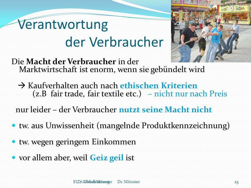 Verantwortung der Verbraucher