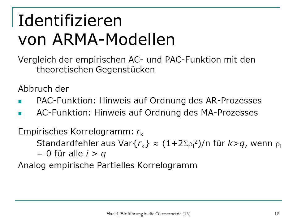 Identifizieren von ARMA-Modellen
