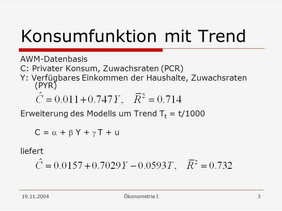 Konsumfunktion mit Trend