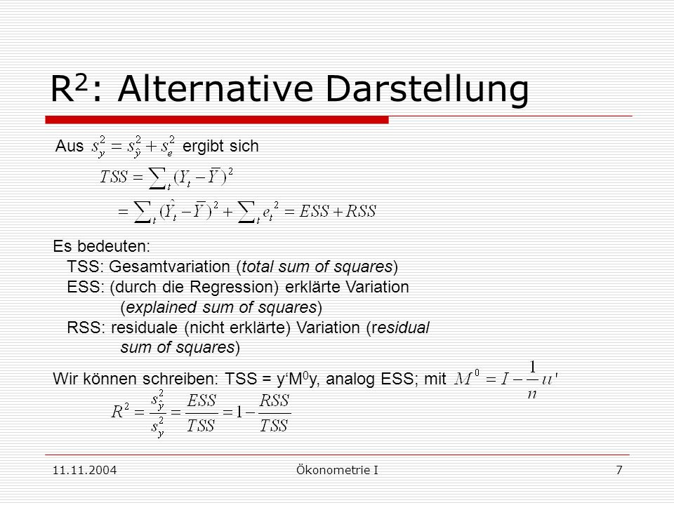 R2: Alternative Darstellung