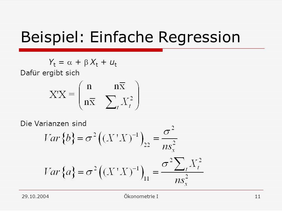 Beispiel: Einfache Regression