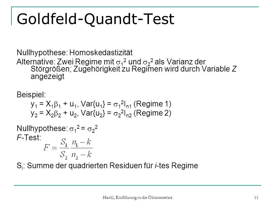 Goldfeld-Quandt-Test
