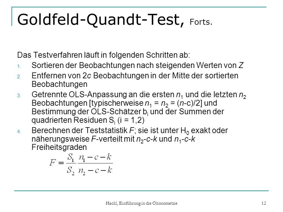 Goldfeld-Quandt-Test, Forts.