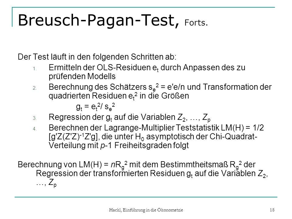 Breusch-Pagan-Test, Forts.