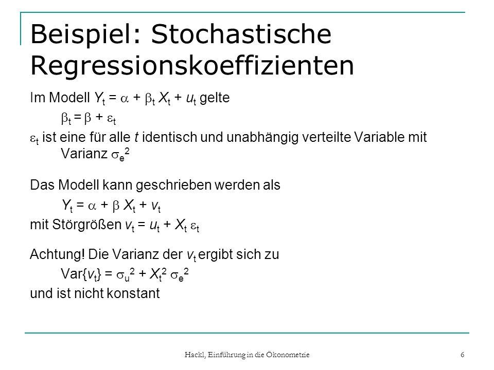 Beispiel: Stochastische Regressionskoeffizienten
