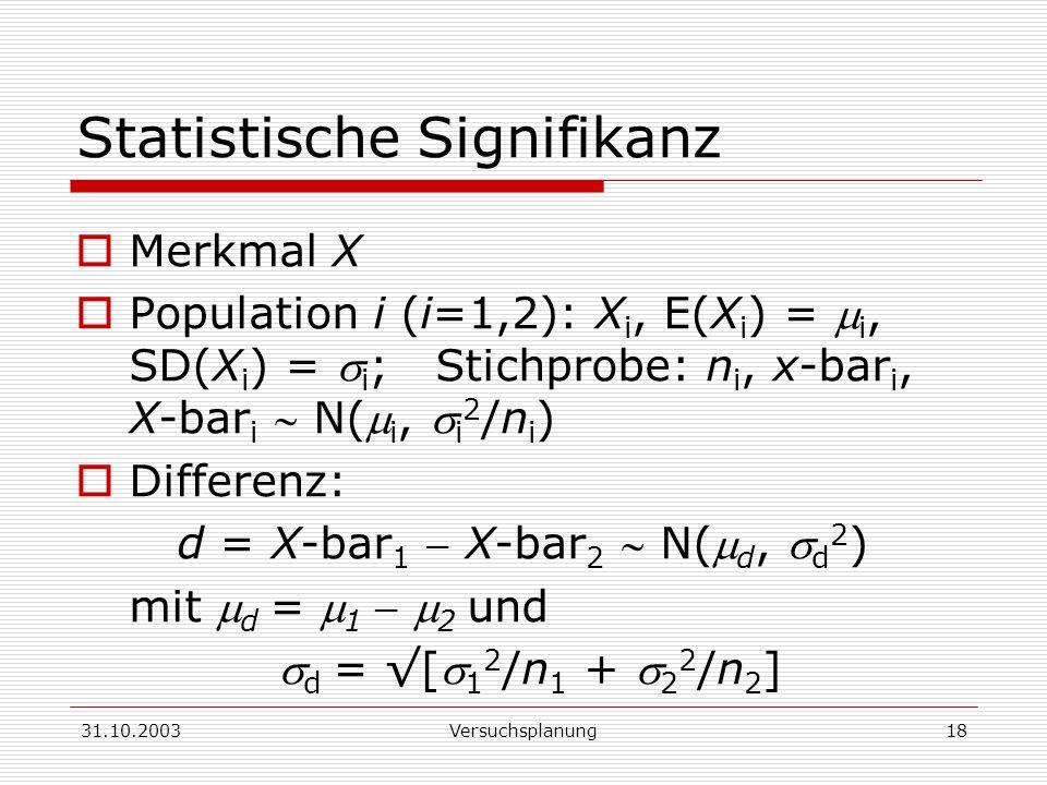 Statistische Signifikanz