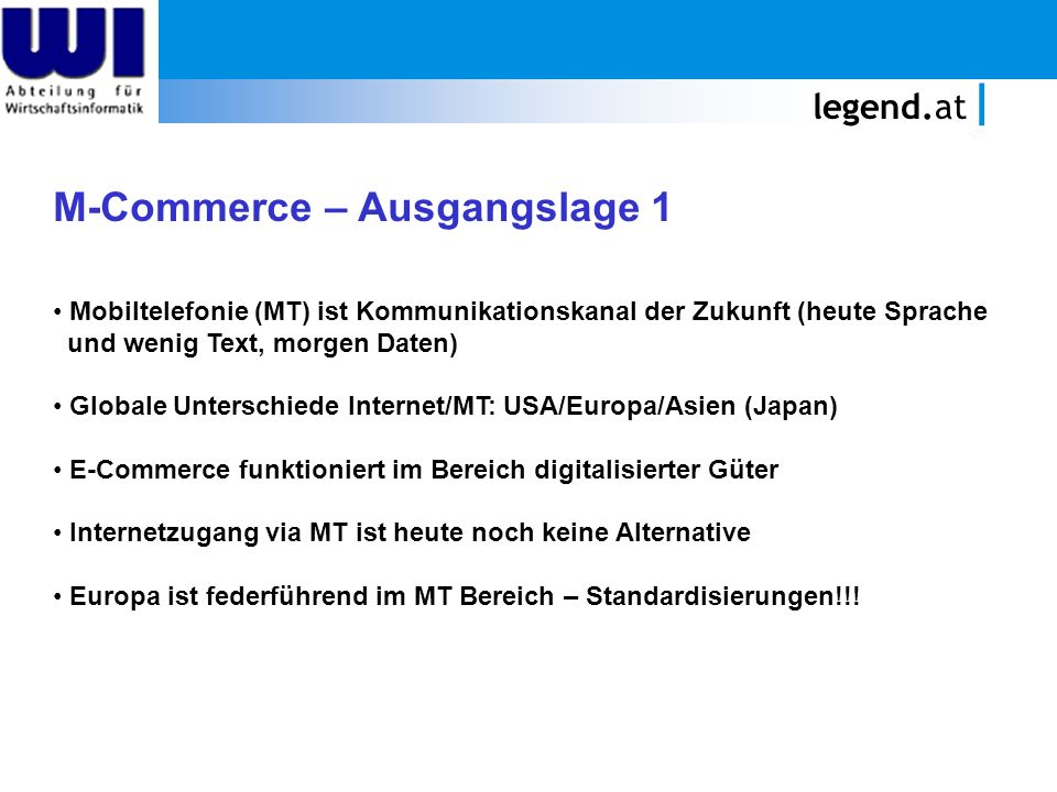 M-Commerce – Ausgangslage 1