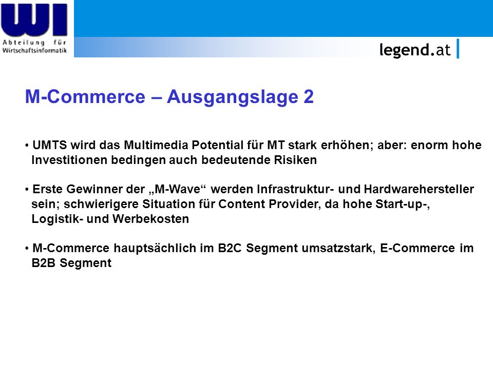 M-Commerce – Ausgangslage 2