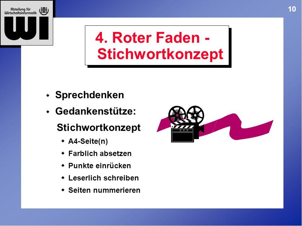 4. Roter Faden - Stichwortkonzept