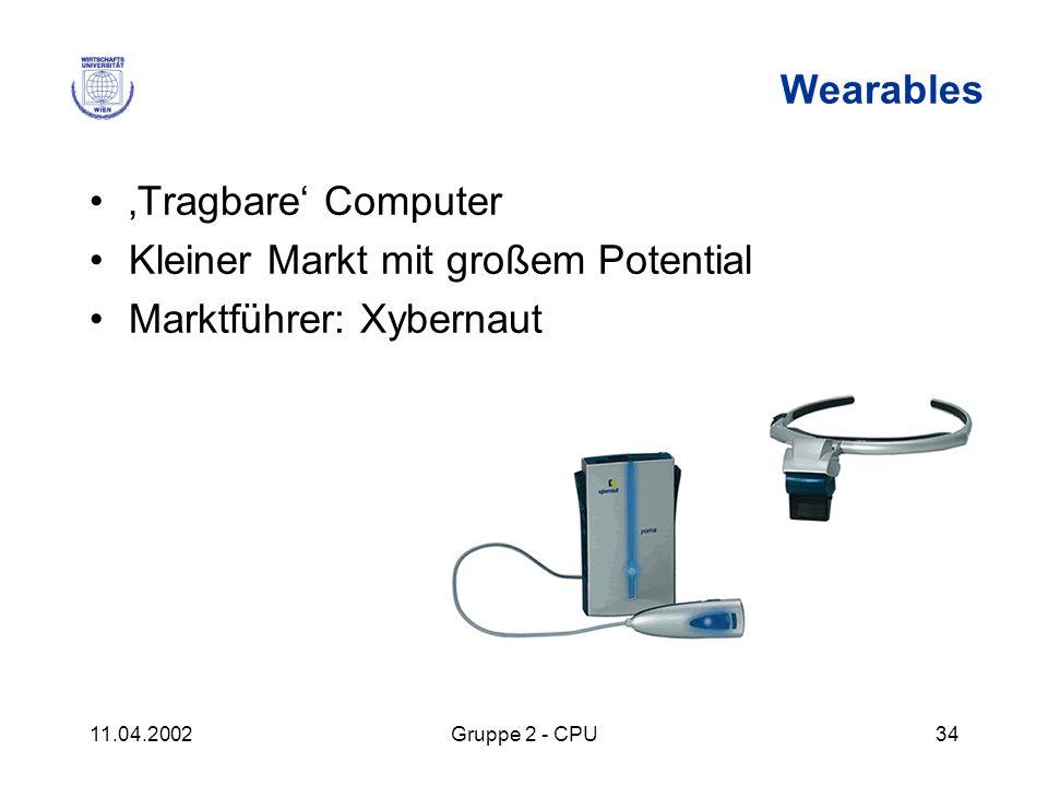 Kleiner Markt mit großem Potential Marktführer: Xybernaut