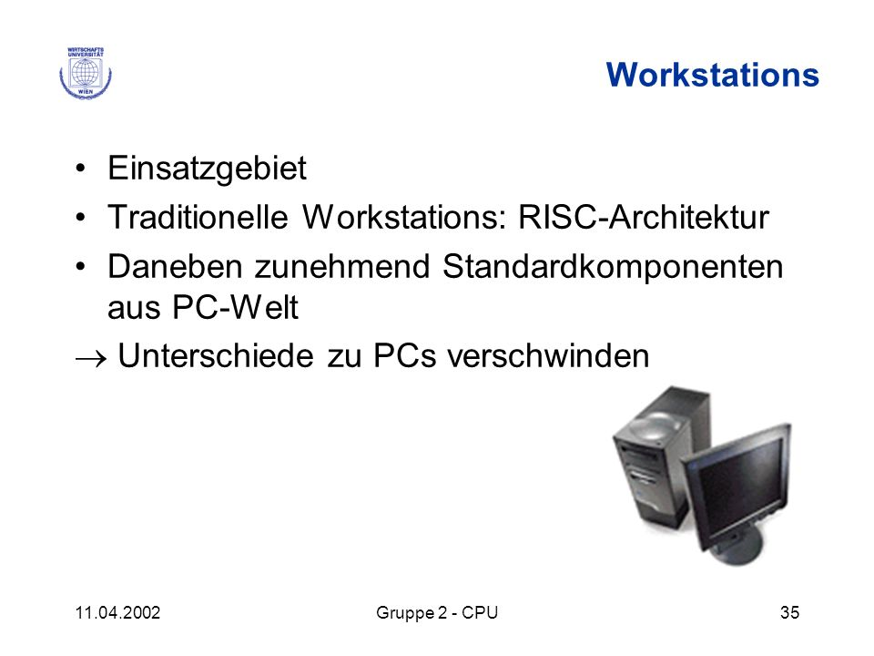 Traditionelle Workstations: RISC-Architektur