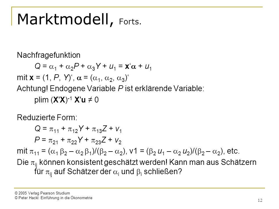 Marktmodell, Forts. Nachfragefunktion