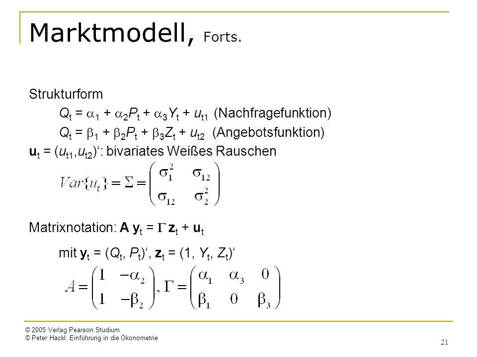Marktmodell, Forts. Strukturform