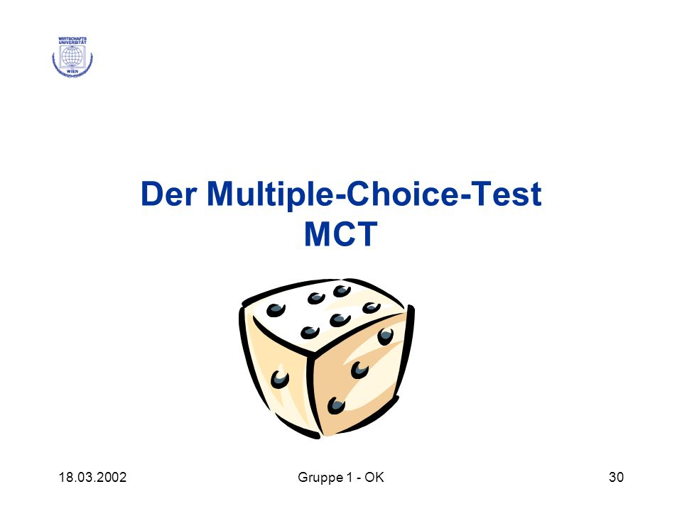 Der Multiple-Choice-Test MCT