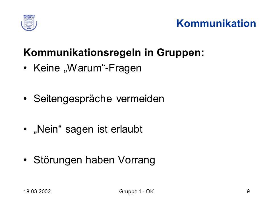 """Kommunikationsregeln in Gruppen: Keine """"Warum -Fragen"""