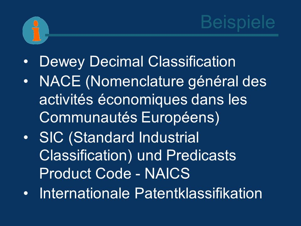 Beispiele Dewey Decimal Classification