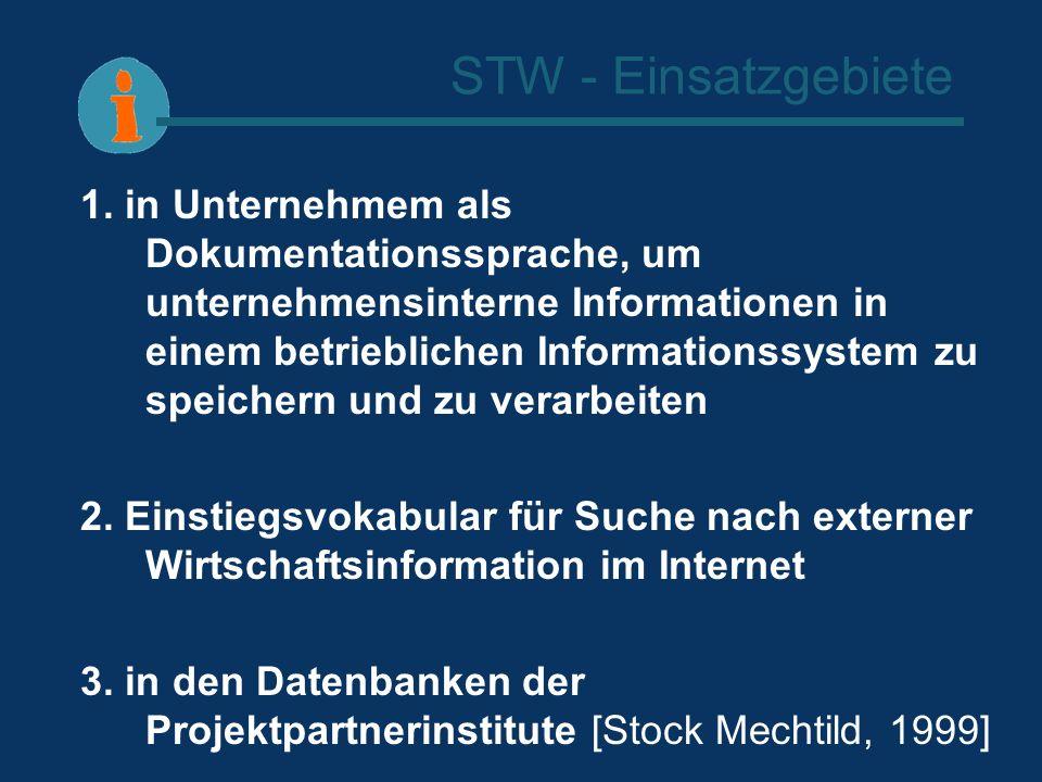 STW - Einsatzgebiete