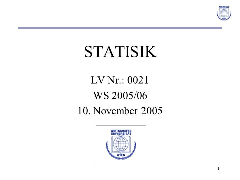 STATISIK LV Nr.: 0021 WS 2005/06 10. November 2005