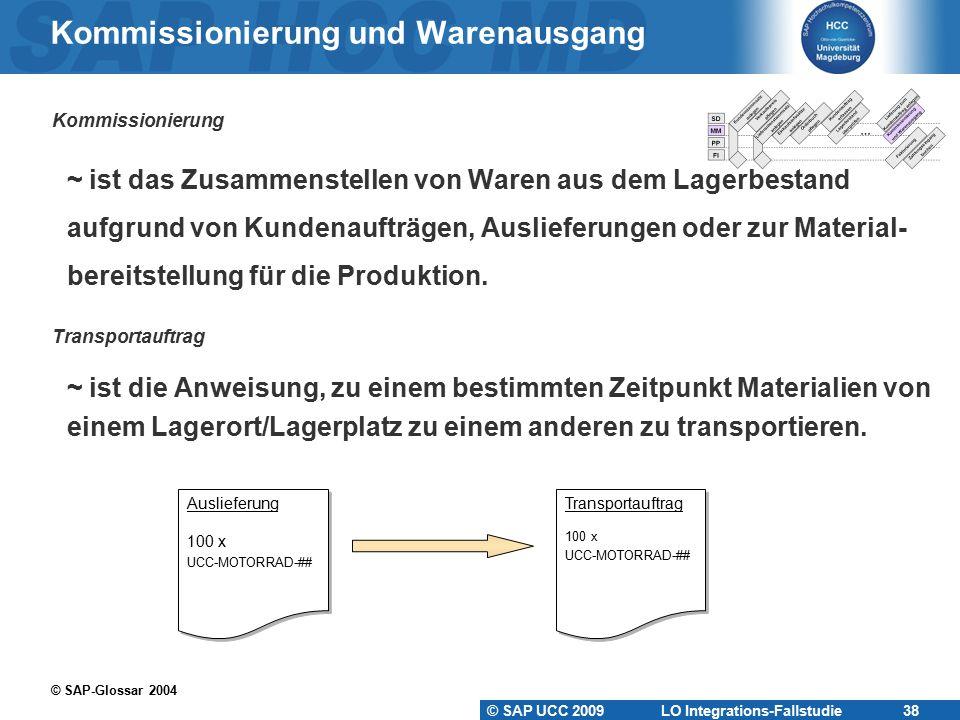 Kommissionierung und Warenausgang