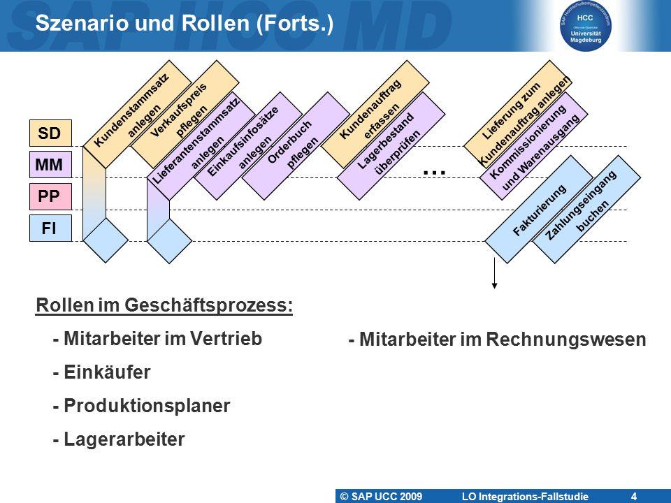 Szenario und Rollen (Forts.)