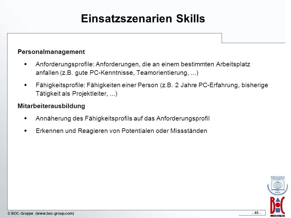 Einsatzszenarien Skills