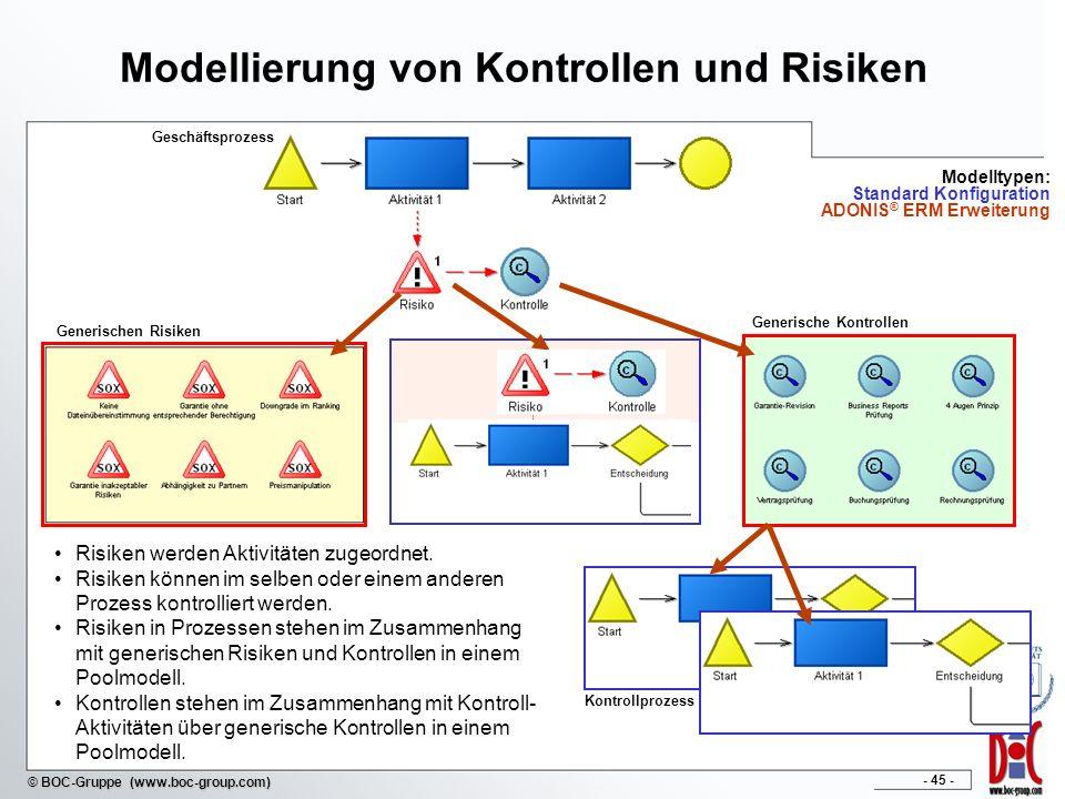 Modellierung von Kontrollen und Risiken