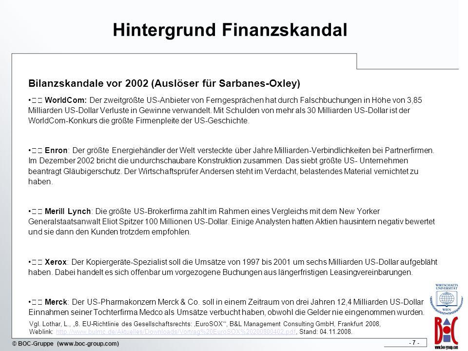 Hintergrund Finanzskandal