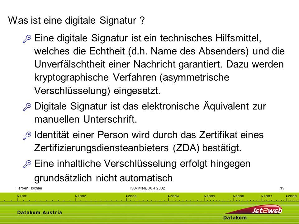 Was ist eine digitale Signatur