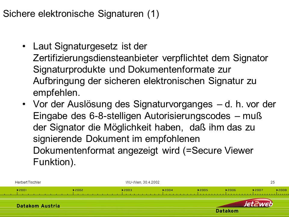 Sichere elektronische Signaturen (1)