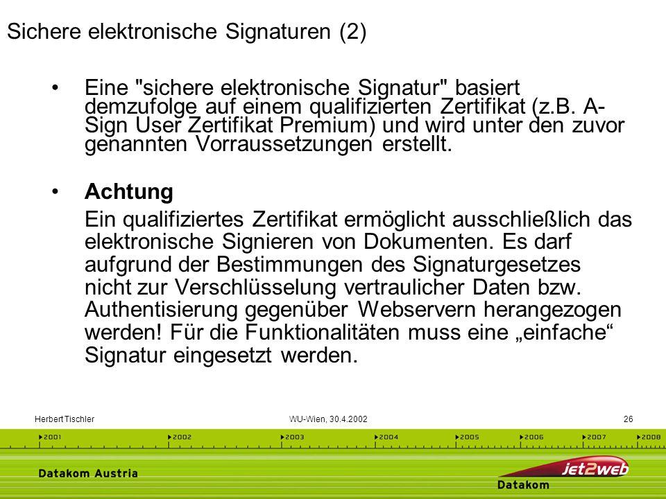 Sichere elektronische Signaturen (2)