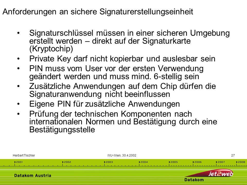 Anforderungen an sichere Signaturerstellungseinheit