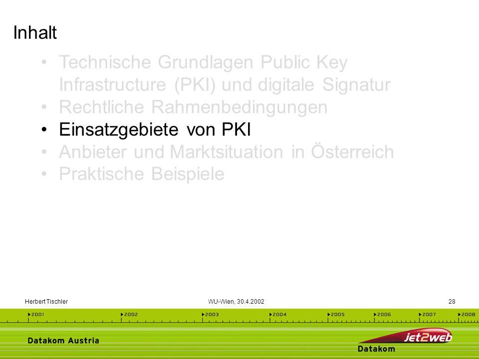 Rechtliche Rahmenbedingungen Einsatzgebiete von PKI