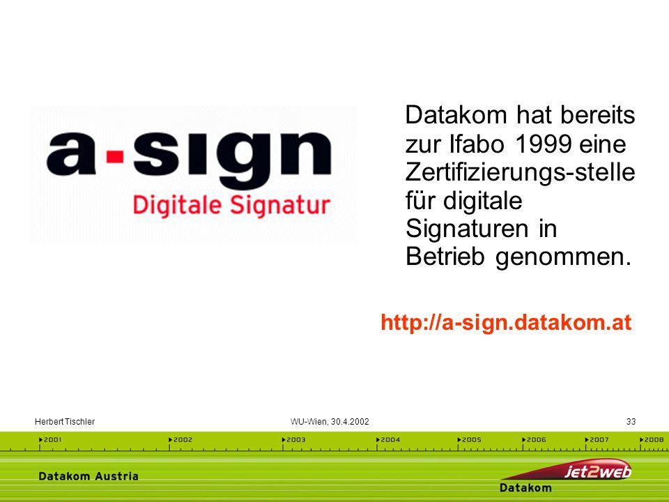 Datakom hat bereits zur Ifabo 1999 eine Zertifizierungs-stelle für digitale Signaturen in Betrieb genommen.