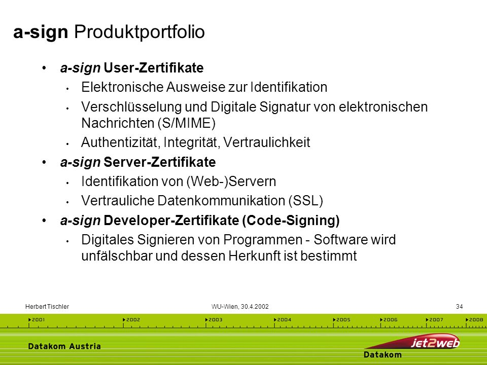 a-sign Produktportfolio