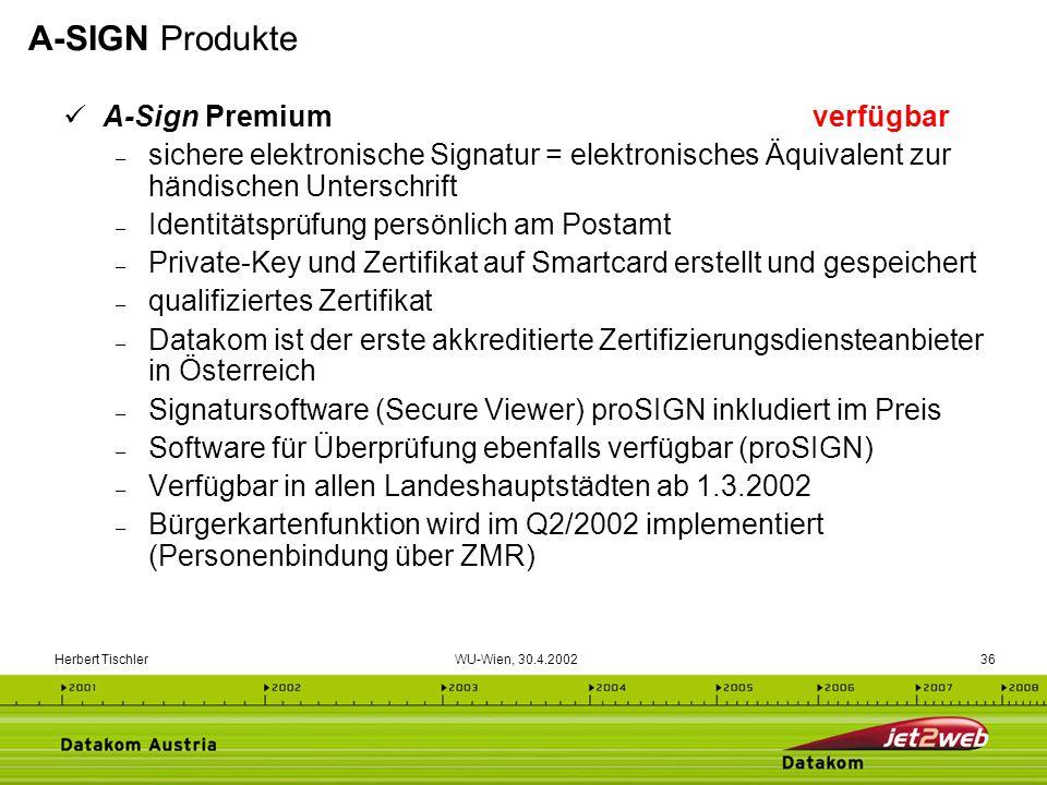 A-SIGN Produkte A-Sign Premium verfügbar