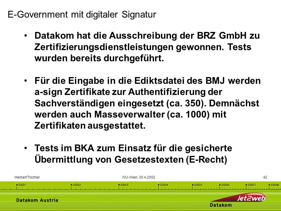 E-Government mit digitaler Signatur