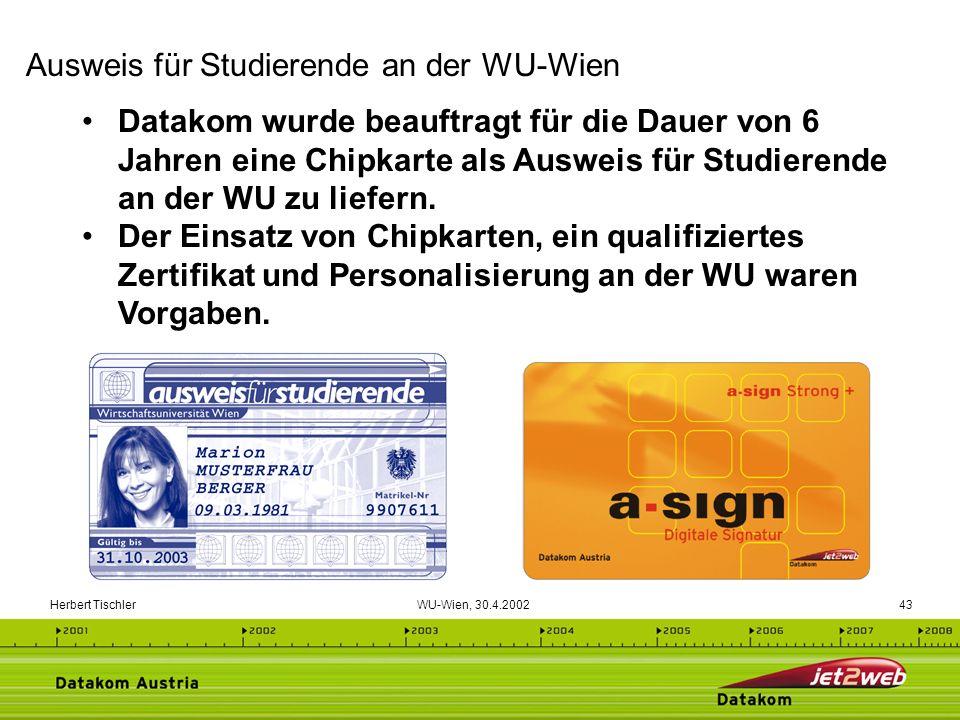 Ausweis für Studierende an der WU-Wien