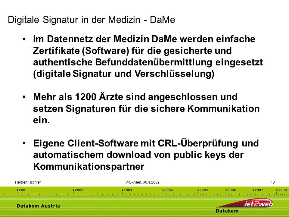 Digitale Signatur in der Medizin - DaMe