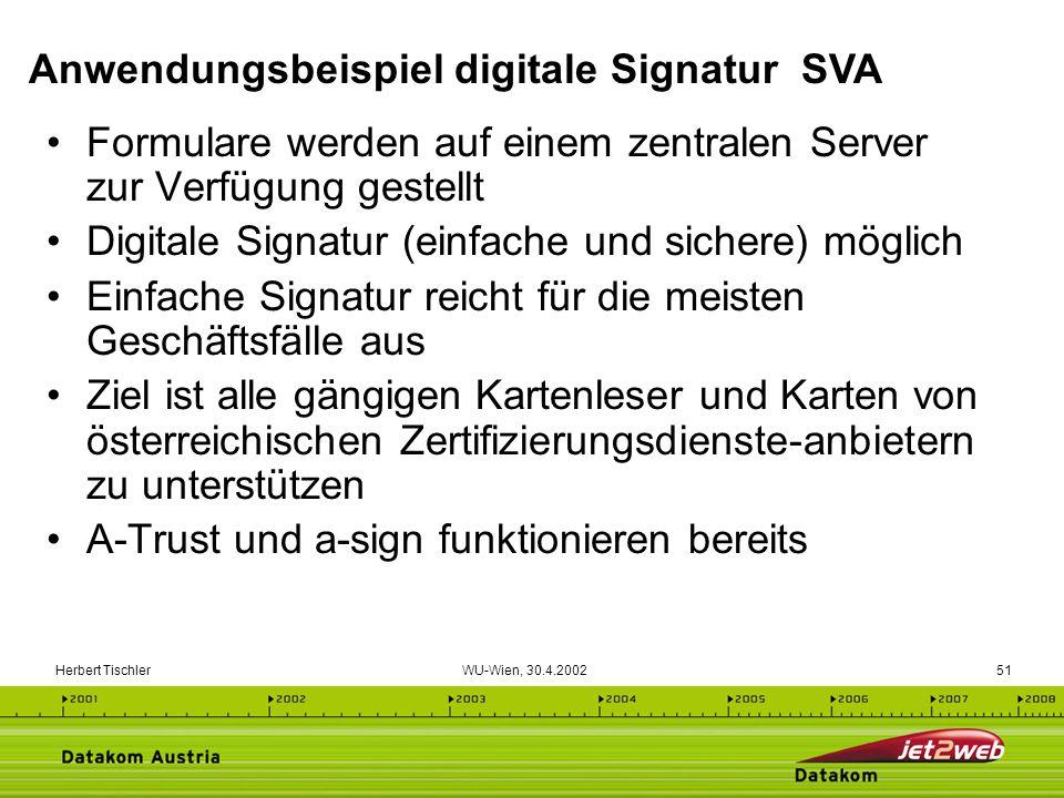 Anwendungsbeispiel digitale Signatur SVA