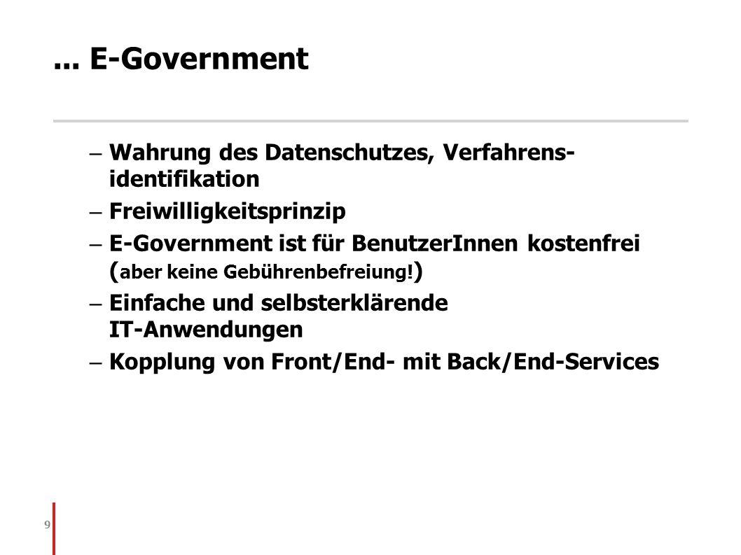... E-Government Wahrung des Datenschutzes, Verfahrens-identifikation