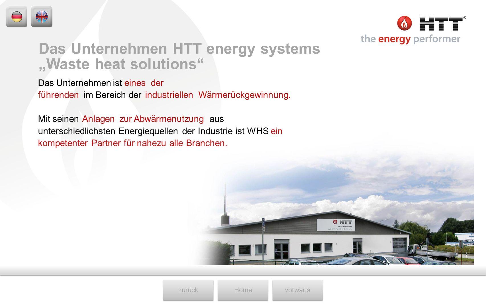 """Das Unternehmen HTT energy systems """"Waste heat solutions"""