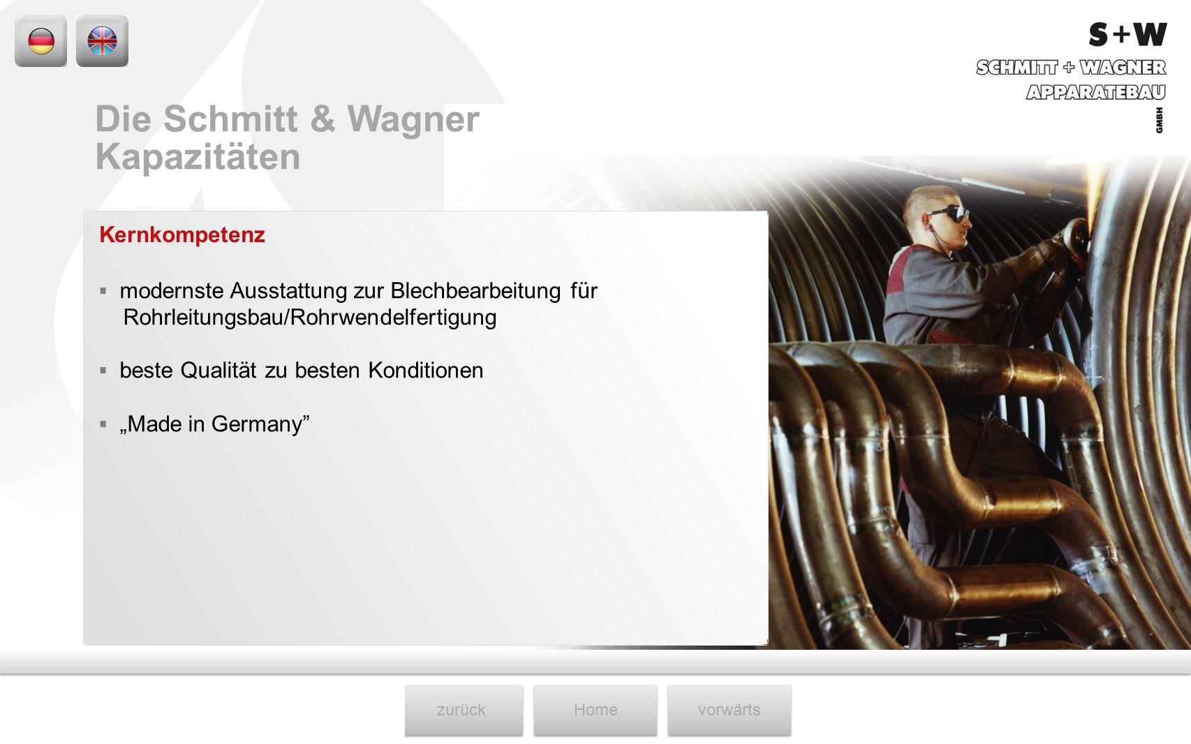 Die Schmitt & Wagner Kapazitäten