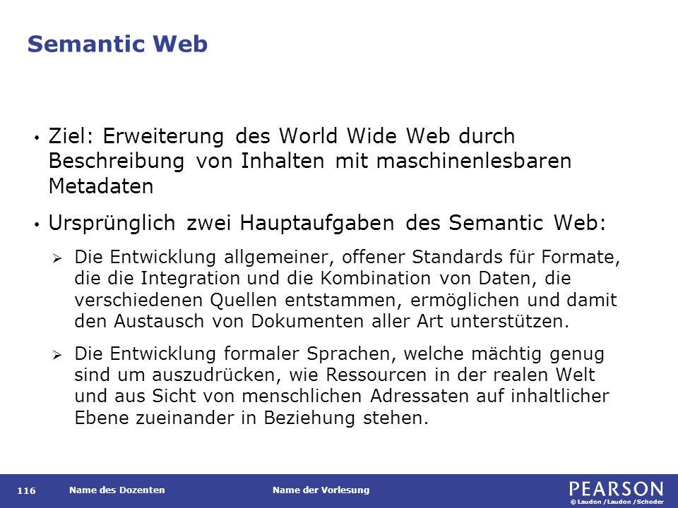 Semantic Web Konzeption des Semantic Web wird inzwischen jedoch weithin als zu kompliziert angesehen, insb. mit Hinblick auf das WM: