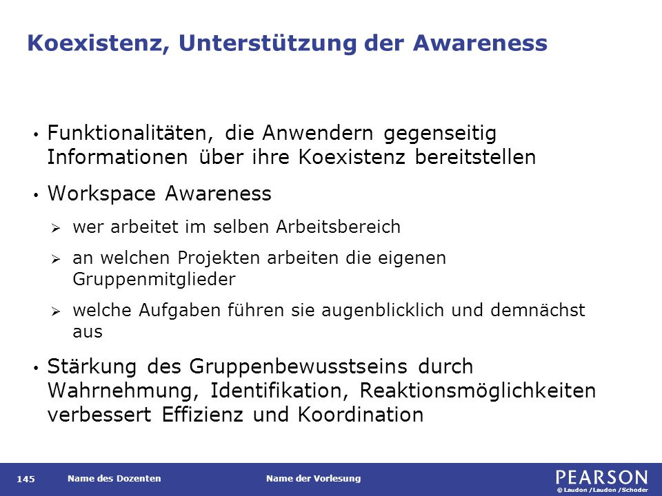 Aggregation von Awareness-Informationen in einem Actogramm