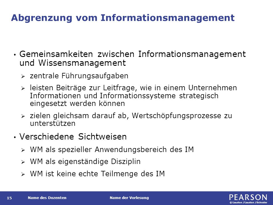 Abgrenzung vom Informationsmanagement