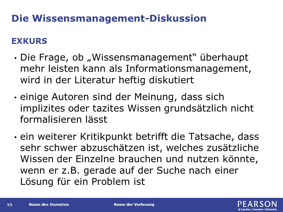 Die Wissensmanagement-Diskussion