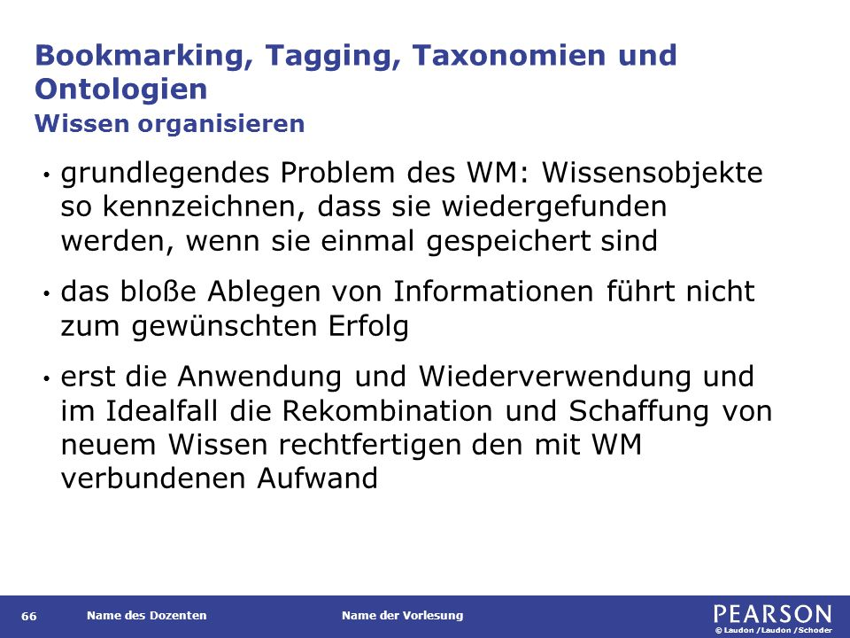 Bookmarking, Tagging, Taxonomien und Ontologien