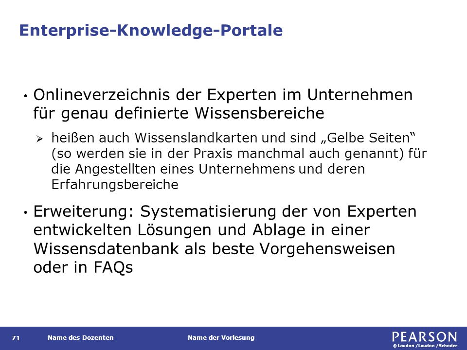Beispielarchitektur eines Enterprise-Knowledge-Portals