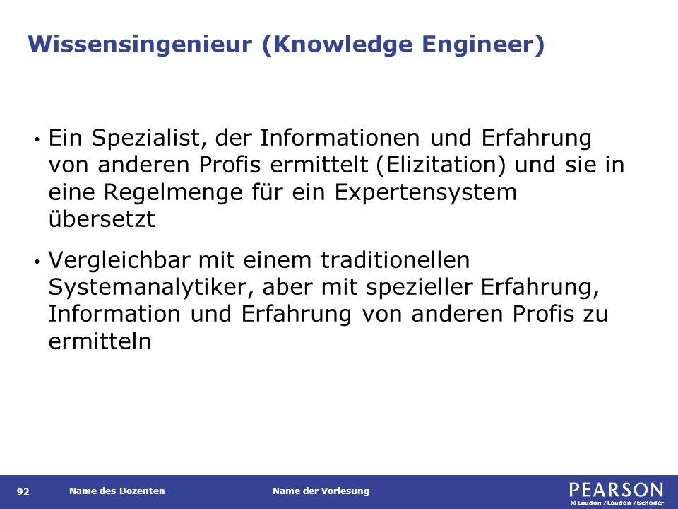 Beispiel für in Regeln repräsentiertes Wissen in einem Expertensystem