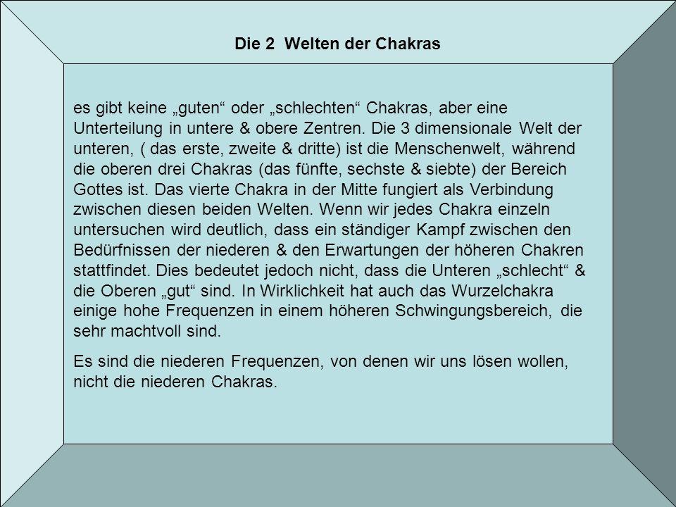Die 2 Welten der Chakras